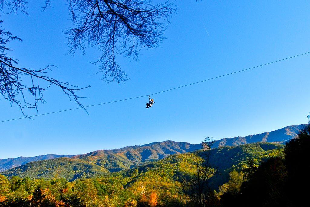 Pigeon Forge Zipline Tour in Gatlinburg, Smoky Mountains