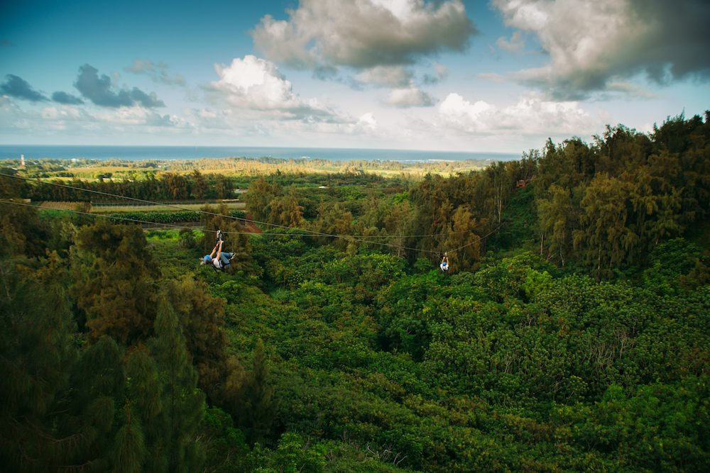 Stunning photo of the CLIMB Works Keana Farms zipline course.