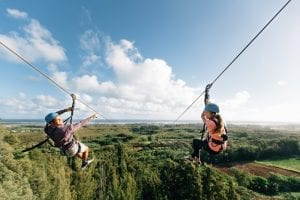 friends on oahu ziplines