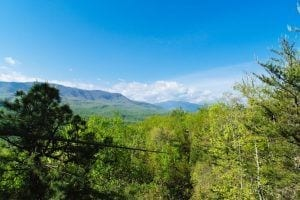 view from Smoky Mountain zipline tour