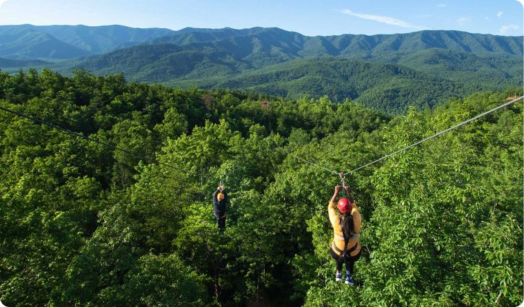 Mountaintop zipline tour