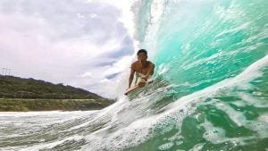 surfing on oahu