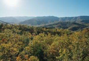 view of the smoky mountain ziplines