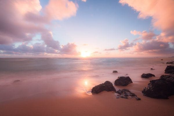 sunrise in oahu